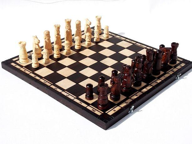 ORYGINALNE drewniane szachy ZAMKOWE 60x60 cm !