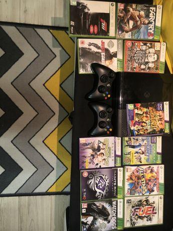Xbox 360 + 2 pady + kinect oraz wiele gier