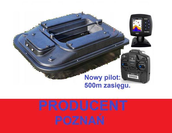 Duża ŁÓDKA ZANĘTOWA P2 70cm Echosonda / producent Poznań