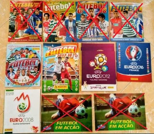 Cadernetas Futebol Vazias - Novas