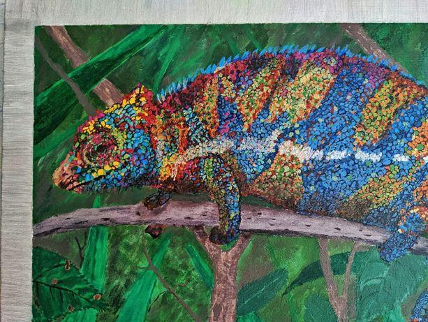 "Картина ""Картина #1"" Хамелеон. Chameleon"