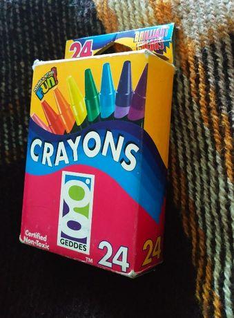 Восковые карандаши Crayons Geddes, 24 шт, оригинал, из США