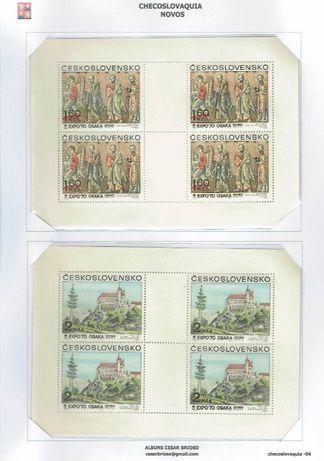 Filatelia - Checoslováquia blocos - folha miniatura