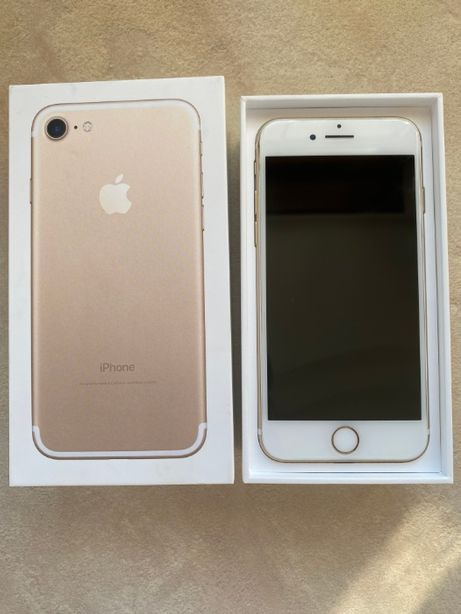 iPhone 7 Apple 32GB złoty gold + etui stan idealny