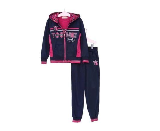 Комплект спортивный костюм+футболка для девочки