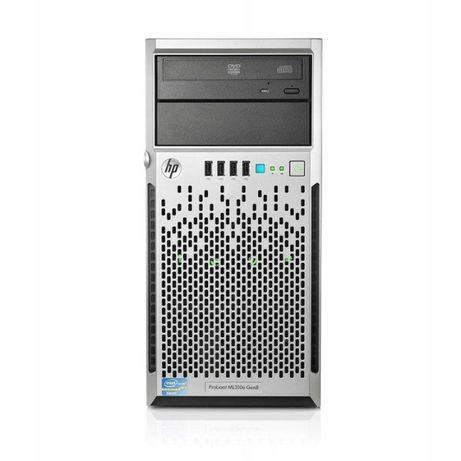 Mały serwer HP ML310e v2 gen8 16GB RAM 2X 600GB 2X ZASILACZ symfonia