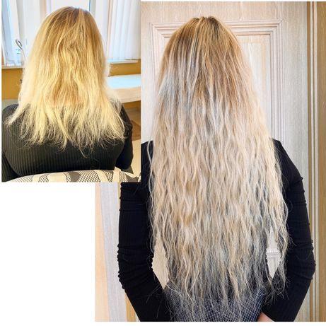 Качественное наращивание волос.коррекция наращенных волос,выезд надом