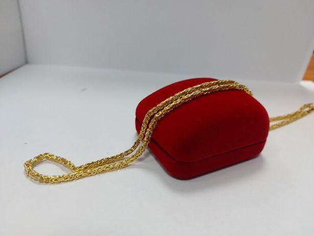 Piękny złoty łańcuszek [585] 46 cm, splot królewski