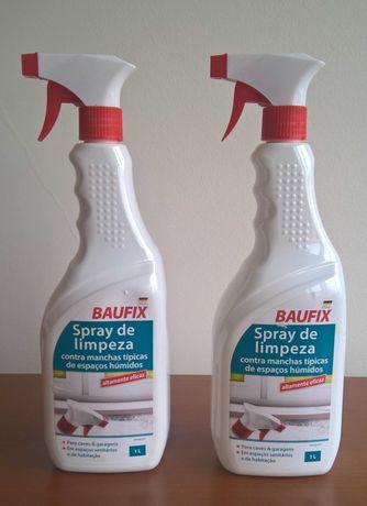 Produto spray de limpeza contras manchas de espaços húmidos e de bolor