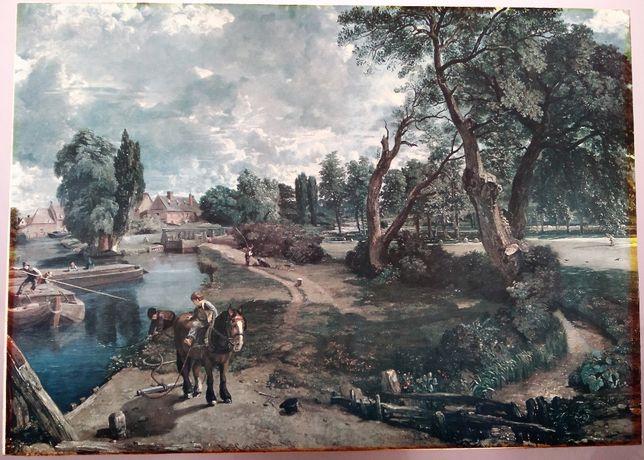 Quadro Antigo 1817 John Constable - Flatford Mill Sec. XIX