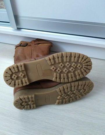 Кожаные ботинки Zara , Zara сапожки