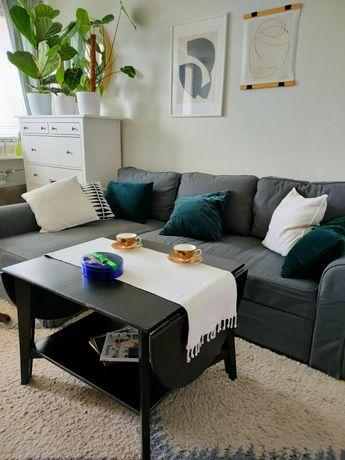 Stolik kawowy IKEA rozkładany drewno bejcowane czarny