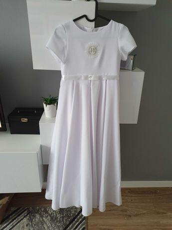Sukienka komunijna piekna biala z całego kola 152-158