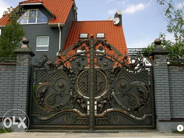 Кованые ( ковані )ворота, забор, балкон, мангал, качеля и т.д.