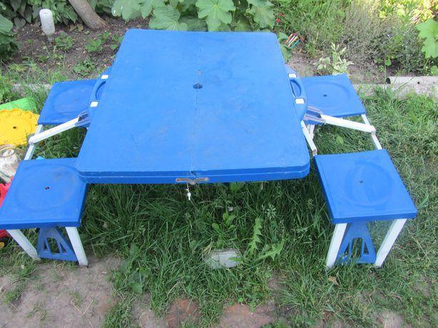 Стол трансформер походной чемодан для кемпинга стол + 4 стулья