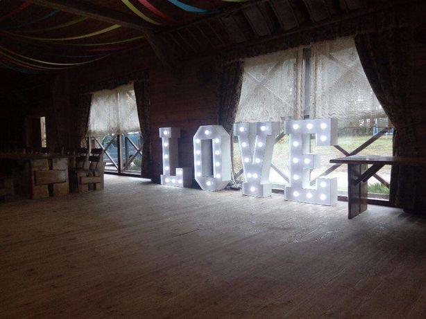 Litery Love 120 cm napis Miłość świecący podświetlany