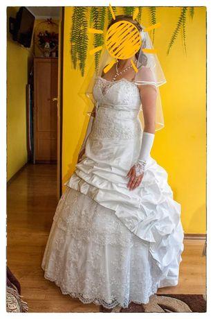 Śliczna suknia ślubna + gratis bolerko