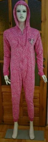 ONESIE kombinezon piżama M/L RÓŻOWA ZEBERKA