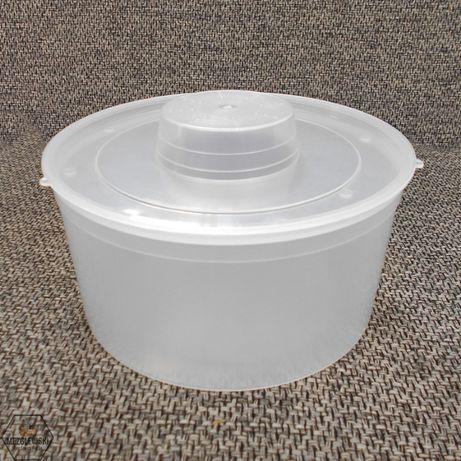 Podkarmiaczka Wiaderkowa 3L Okrągła z Pokrywą, Dokarmiacz Wiaderkowy