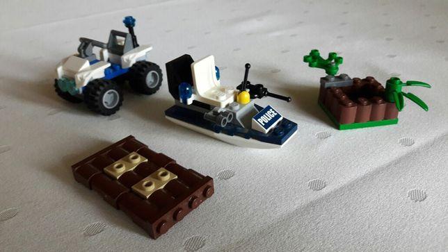 Lego 60135, 60066, łódka, auto