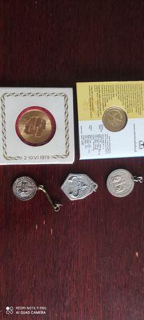 Medale,bryloki Jan  Paweł  II,monety