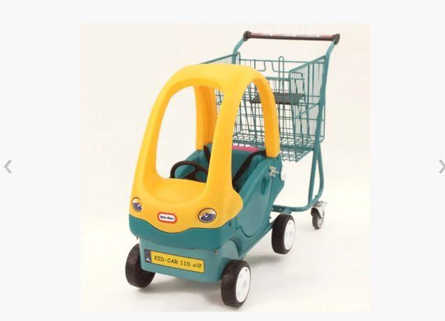 Б/У Покупательская тележка для супермаркета с детской машинкой DAMIX K