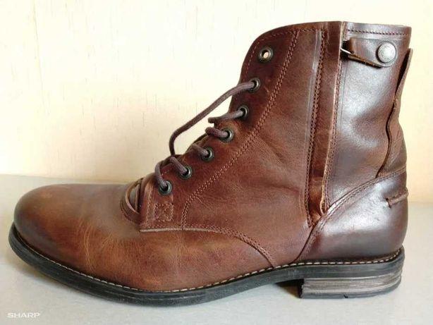 Мужские ботинки туфли кроссовки Португалия, кожа. 43р