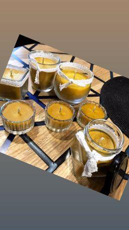 Świeczki z wosku pszczelego naturalne świeczki wosk pszczeli świeca