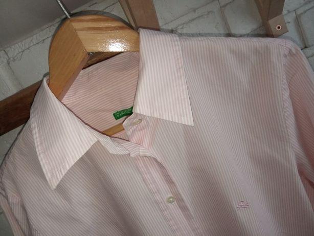 Koszula damska Benetton roz.M ,taliowana ,biznesowa , idealna