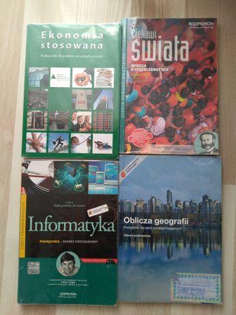 Podręcznik geografia, informatyka, wiedza o społeczeństwie, ekonomia