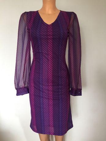 Atmosphere sukienka w paski fiolet R. S 36