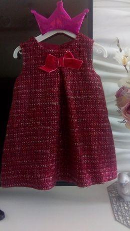 Sukienka Monsoon 3-6 miesięcy Święta bordowa