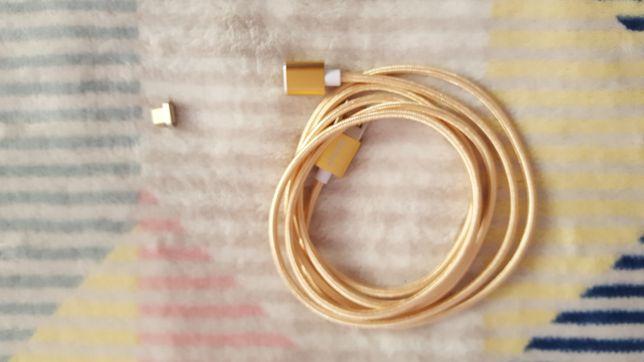 Kabel magnetyczny złoty micro USB 1.5m