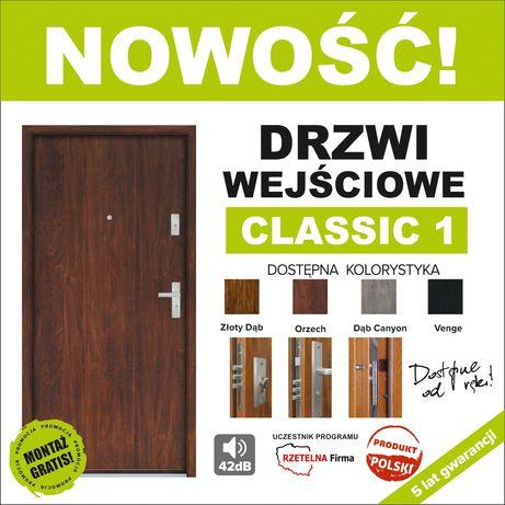 Drzwi wejściowe wyciszone z montażem komplet od 990 zł.