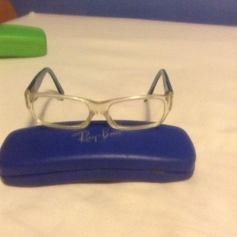 Óculos completos menino armação massa Rayban
