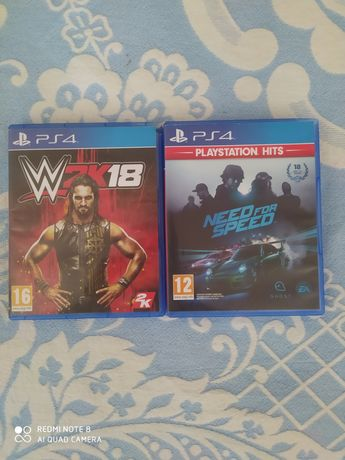 Jogos PS4 Need For Speed e WWE 2K18