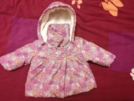 Kurtka płaszczyk dla dziewczynki 3-6 miesięcy F&F