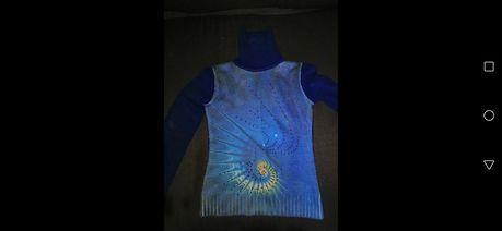 Синий ультрамариновый свитер