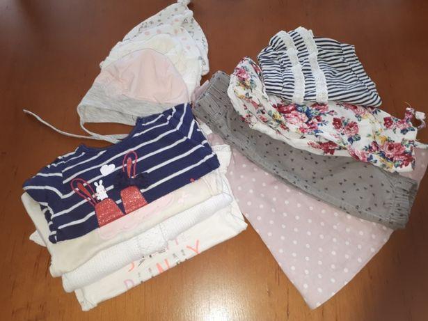 Paka zestaw Ubranka dla dziewczynki 62-68