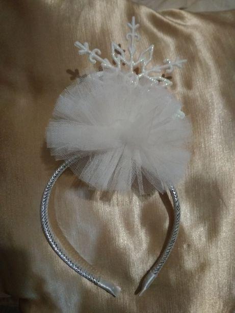 Карнавальный костюм Снежинка,Обруч на голову Снежинка