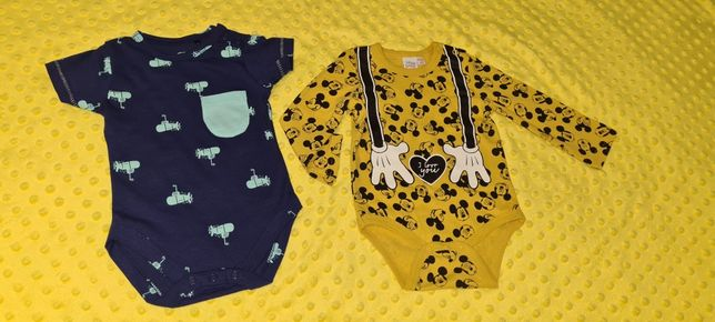 Nowe body Cool Club ze smyka rozm.62 i body Disney rozm.68