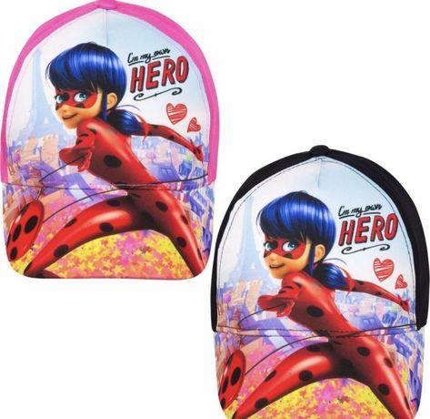 Детская кепка для девочек Леди Баг 52/54 розовый, черный
