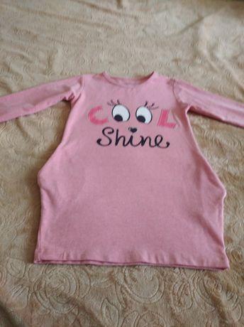 Продается платье туника на девочку 4-5 лет.