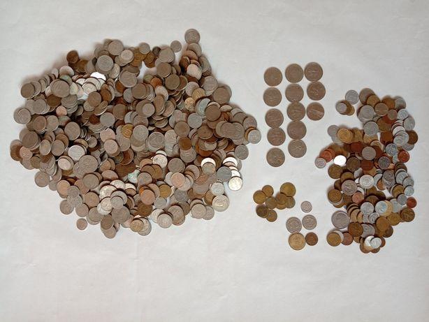Zestaw monet PRL i zagranicznych