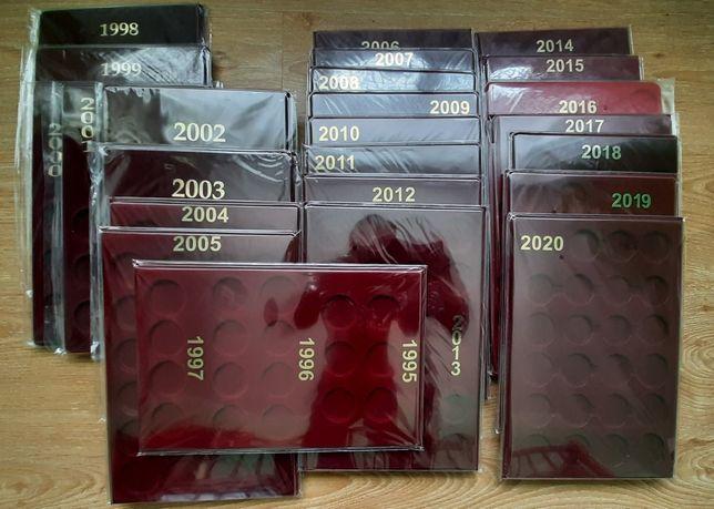 Комплект планшетів 24 шт від 1995 по 2020 планшет футляр укр. мон. НБУ