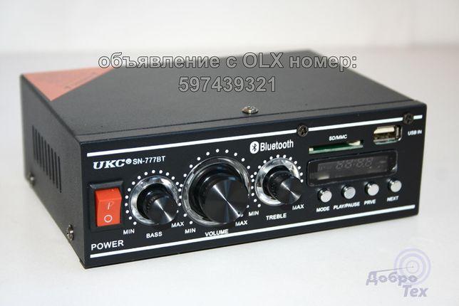 НОВЫЕ! CM-777BT Усилитель звука, FM радио, Блютус, MP3 плеер