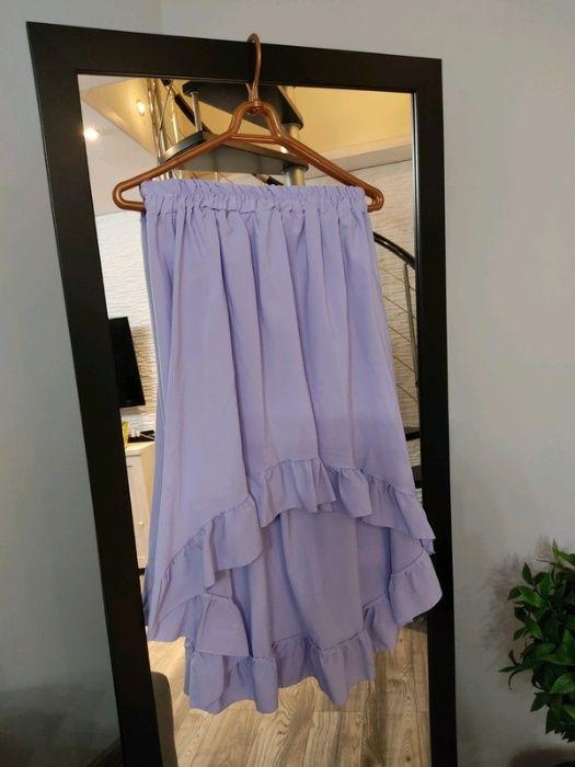 Piękna asymetryczna spódnica lila S/M/L Krosno Odrzańskie - image 1