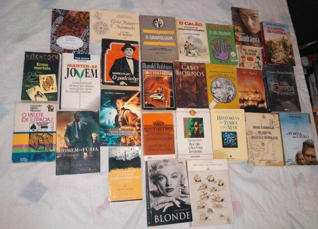 Variedade de livros desde 2€ bom estado