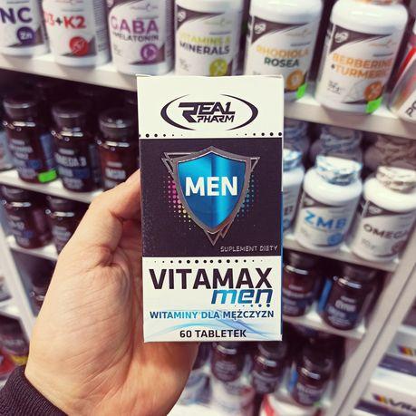 Real Pharm Vitamax MEN 60tab, WItaminy, Minerały, Odżywki, Suplementy