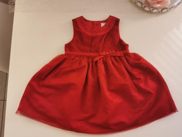 Piękna czerwona sukienka 86 carter's stan bdb
